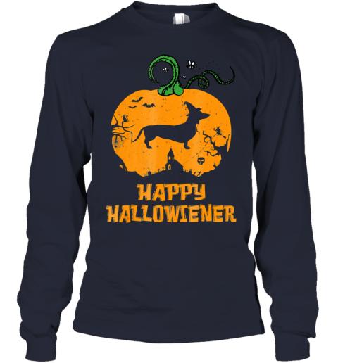 Happy Halloweiner Halloween Dachshund Dog Youth Long Sleeve