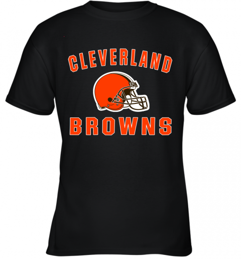 ab4y cleveland browns nfl line by fanatics branded brown victory youth t shirt 26 front black