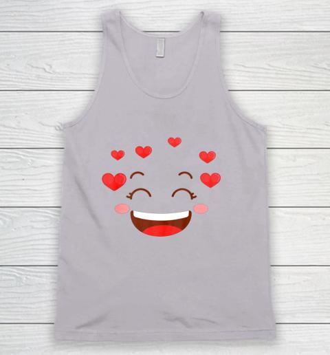 Kids Girls Valentine T Shirt Many Hearts Emoji Design Tank Top 3