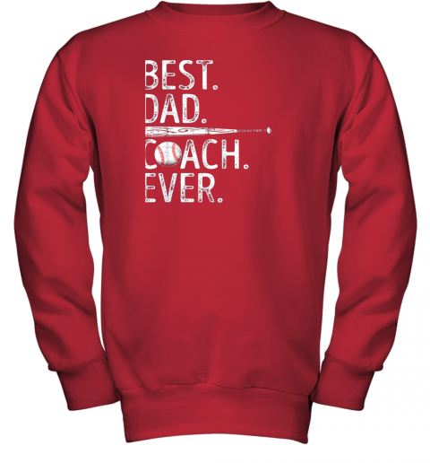 8vs3 mens best dad coach ever t shirt baseball fathers day gift youth sweatshirt 47 front red