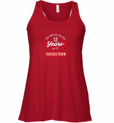v41p this mom has waited 12 years baseball sports cooperstown flowy tank 32 front red