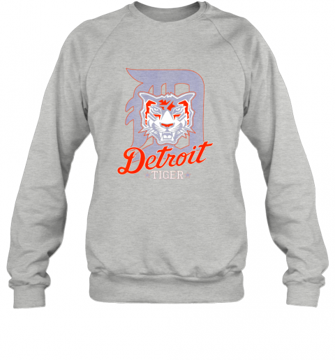 vxjk tiger mascot distressed detroit baseball t shirt new sweatshirt 35 front sport grey