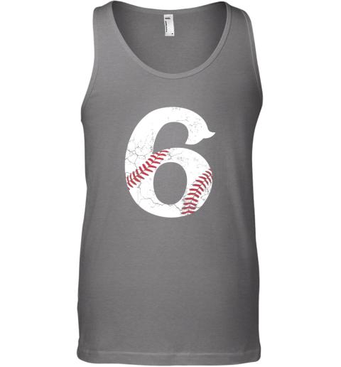 n4vp kids happy birthday 6th 6 year old baseball gift boys girls 2013 unisex tank 17 front graphite heather
