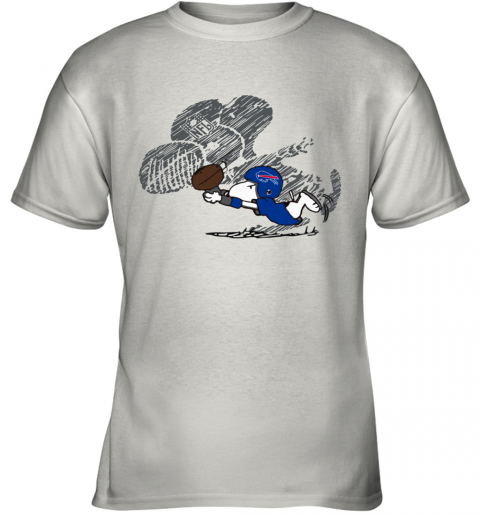 Buffalo BIlls Snoopy Plays The Football Game Youth T-Shirt