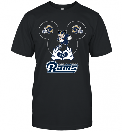 I Love The Rams Mickey Mouse Los Angeles Rams Unisex Jersey Tee