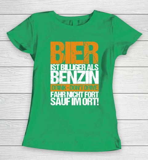 Beer Lover Funny Shirt Beer Cheaper Than Gasoline Drinking Alcohol Drinking Party Saying Women's T-Shirt 5