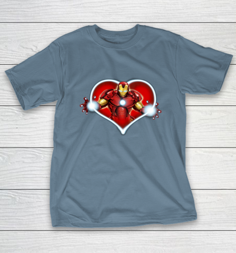 Marvel Iron Man Heart Blaster Glow Valentine Graphic T-Shirt 6