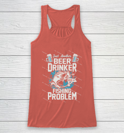 Beer Lover Funny Shirt Fishing ANd Beer Racerback Tank 3