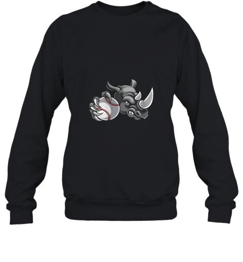 Rhino Baseball Ball Sports Mascot Sweatshirt