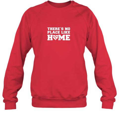 iyrn there39 s no place like home baseball shirt kids baseball tee sweatshirt 35 front red