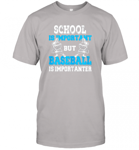 9ksg school is important but baseball is importanter boys jersey t shirt 60 front ash