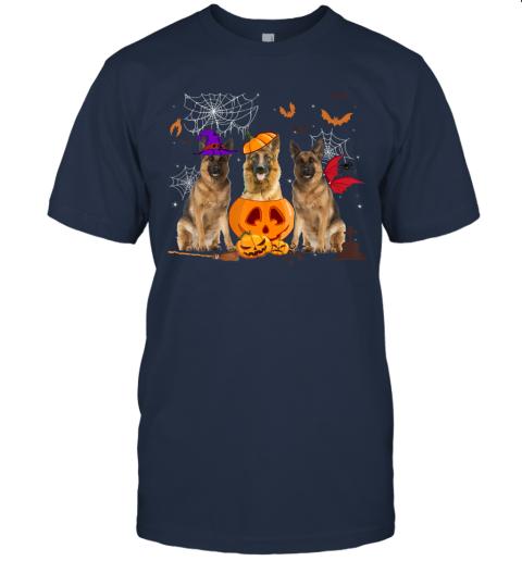 Funny Pumpkin Witch German Shepherd Dog Halloween Gifts T-Shirt