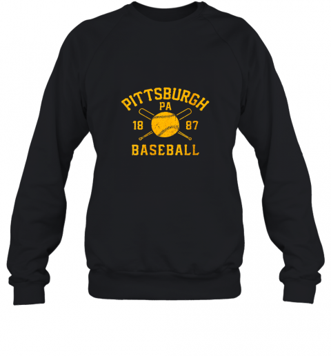 Vintage Pittsburgh Baseball Pennsylvania Pirate Retro Gift Sweatshirt