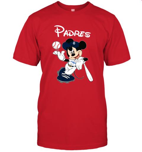 1qaa baseball mickey team san diego padres jersey t shirt 60 front red