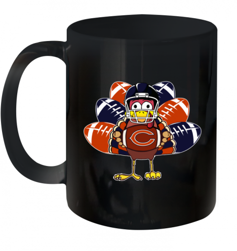 Chicago Bears  Thanksgiving Turkey Football NFL Ceramic Mug 11oz