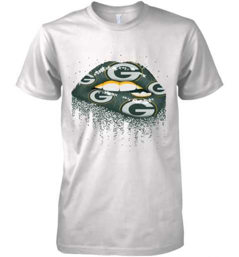 Sexy  Lips Green Bay Packers NFL Premium Men's T-Shirt