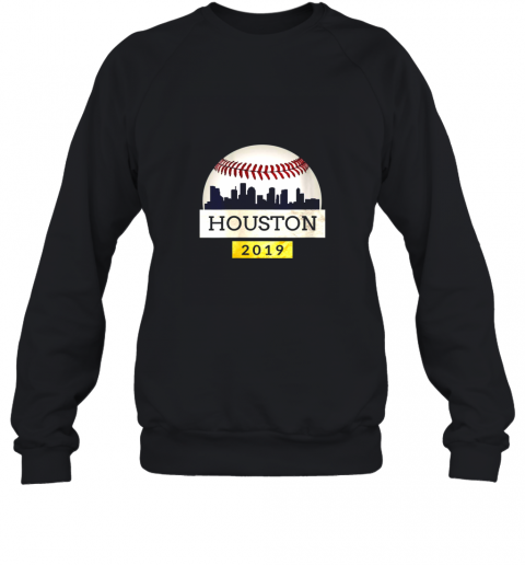 Houston Baseball Shirt 2019 Astro Skyline on Giant Ball Sweatshirt