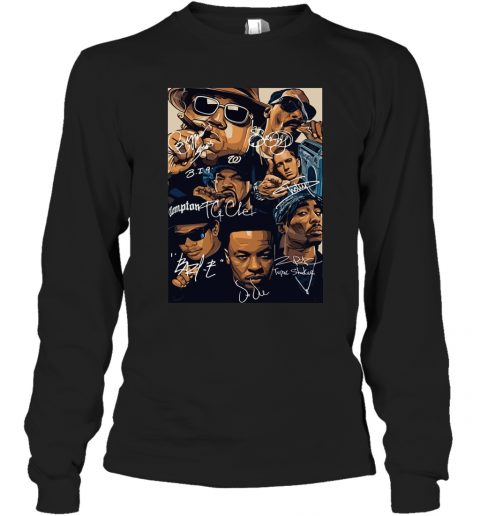 7 American Rapper Inspired Eazy E Biggie Tupac Snoop Dogg Jay-Z Eminem Long Sleeve T-Shirt
