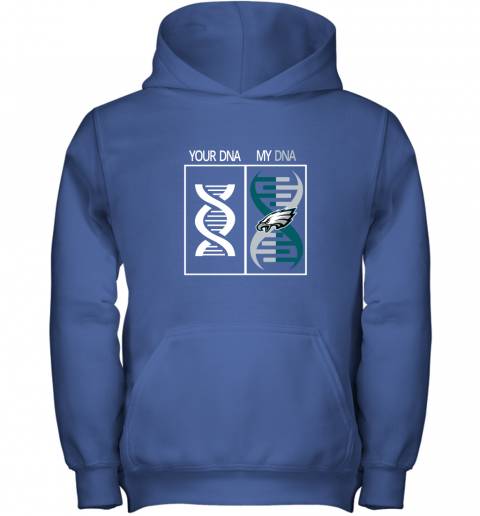pmuh my dna is the philadelphia eagles football nfl youth hoodie 43 front royal