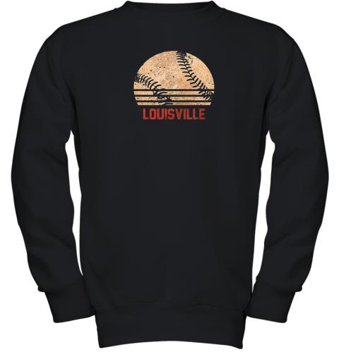Vintage Baseball Louisville Shirt Cool Softball Gift Youth Sweatshirt