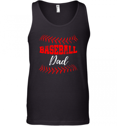 Mens Baseball Inspired Dad Fathers Day Tank Top