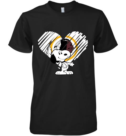 I Love Snoopy Washington Redskins In My Heart NFL Premium Men's T-Shirt