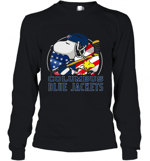 Columbus Blue Jackets  Snoopy And Woodstock NHL Youth Long Sleeve