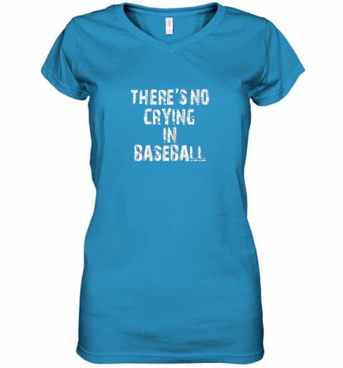 myjp there39 s no crying in baseball women v neck t shirt 39 front sapphire