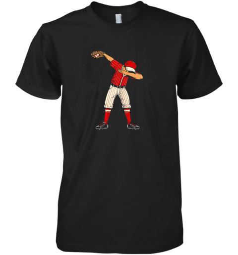 Dabbing Baseball Catcher Gift Shirt Men Boys Kids BZR Premium Men's T-Shirt