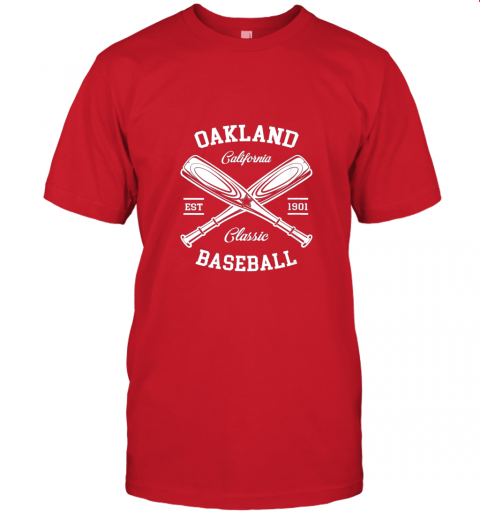 9pqv oakland baseball classic vintage california retro fans gift jersey t shirt 60 front red