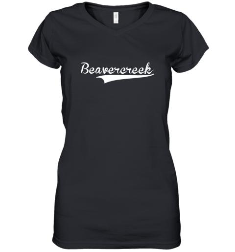 BEAVERCREEK Baseball Styled Jersey Shirt Softball Women's V-Neck T-Shirt