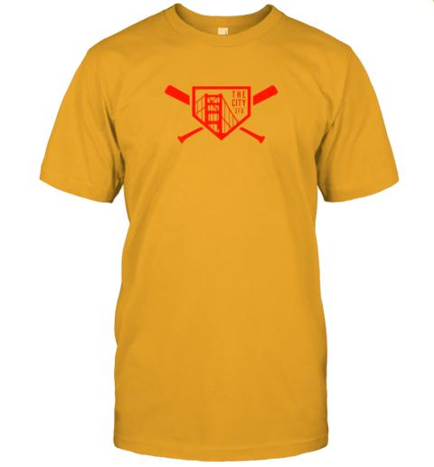 yuvv cool san francisco baseball the city bridge sfo jersey t shirt 60 front gold