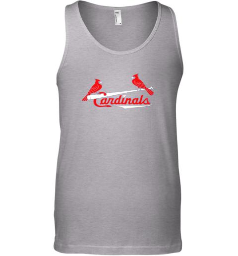 woos cardinal sports shirtst louis baseball fan unisex tank 17 front sport grey