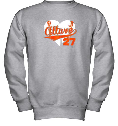 wdkq jose altuve baseball heart shirtapparel youth sweatshirt 47 front sport grey