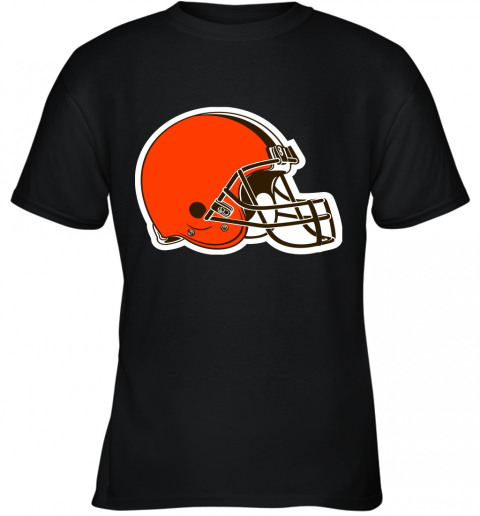 iozq cleveland browns nfl pro line by fanatics branded brown victory youth t shirt 26 front black