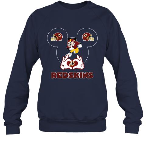 v0ny i love the redskins mickey mouse washington redskins sweatshirt 35 front navy