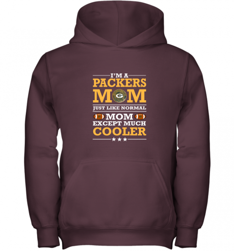 7zh0 im a packers mom just like normal mom except cooler nfl youth hoodie 43 front maroon