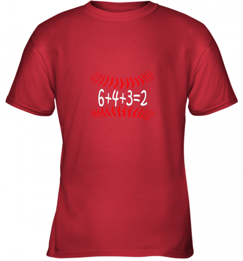 jjlg funny baseball 6432 double play shirt i gift 6 4 32 math youth t shirt 26 front red