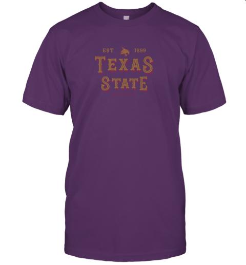 q2u1 texas state bobcats womens college ncaa jersey t shirt 60 front team purple