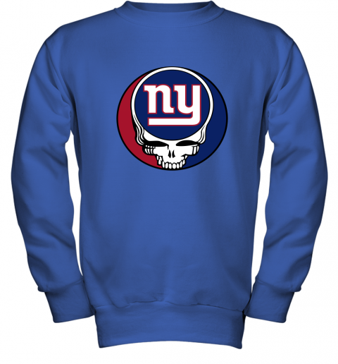 ql15 nfl team new york giants x grateful dead logo band youth sweatshirt 47 front royal