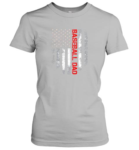 ktrn vintage usa american flag proud baseball dad player ladies t shirt 20 front sport grey