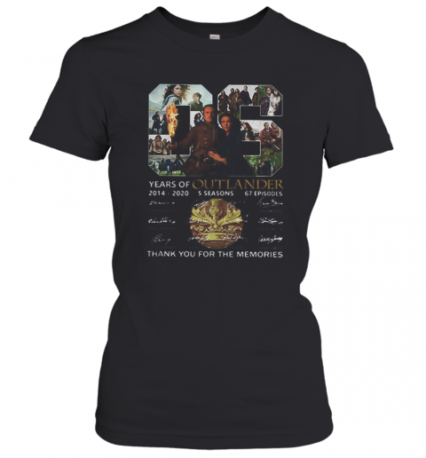 06 Years Of Outlander 2014 2020 Signatures Women's T-Shirt