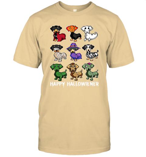 Happy Halloween Dachshund Dog Witch Mummy Halloween Horror T-Shirt