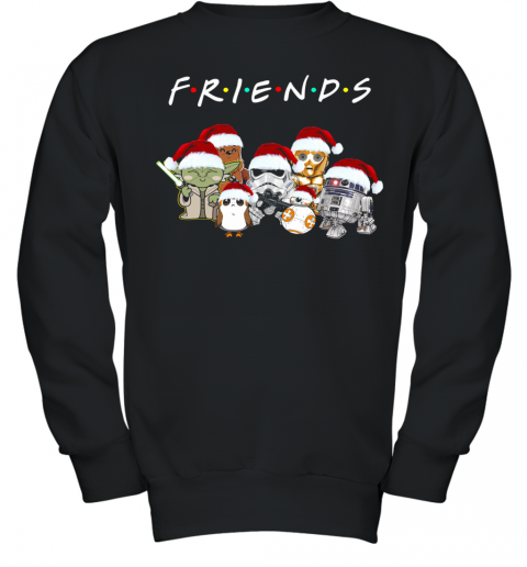 Friends Star Wars All Characters Christmas Youth Sweatshirt