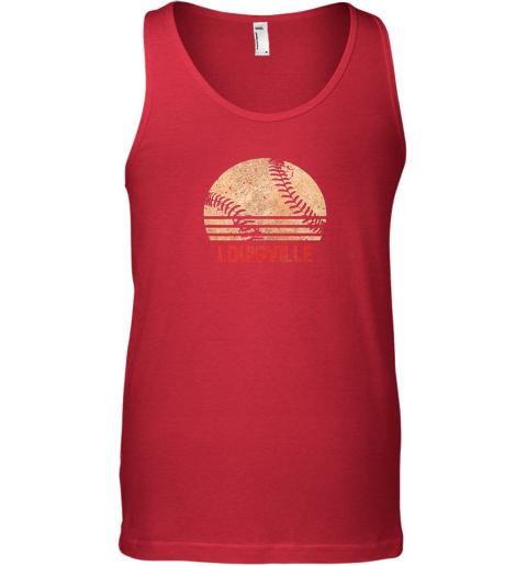 zkrz vintage baseball louisville shirt cool softball gift unisex tank 17 front red