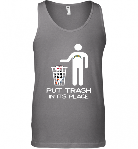 Los Angeles Chargers Put Trash In Its Place Funny NFL Tank Top