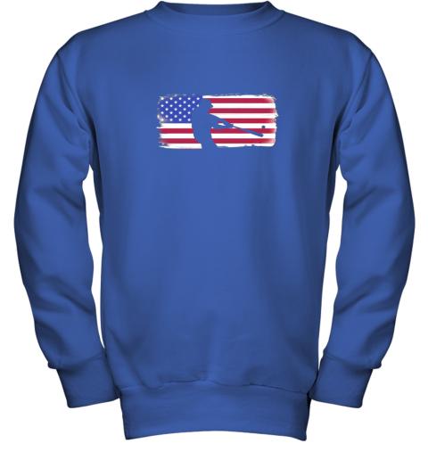 txxv usa american flag baseball player perfect gift youth sweatshirt 47 front royal