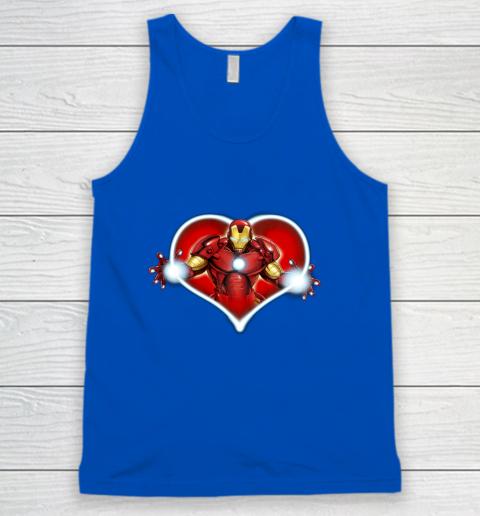 Marvel Iron Man Heart Blaster Glow Valentine Graphic Tank Top 4