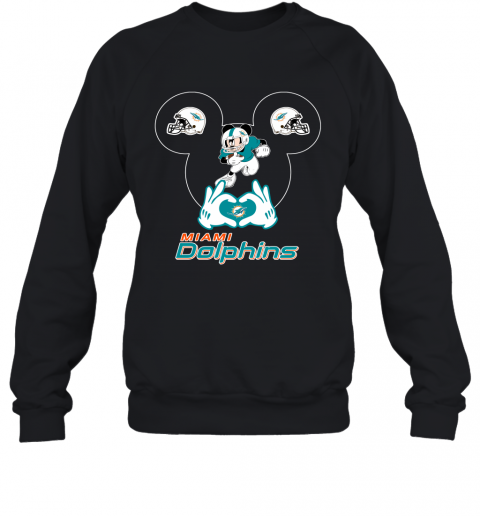 I Love The Dolphins Mickey Mouse Miami Dolphins Sweatshirt