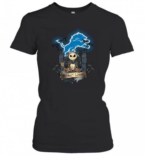 Detroit Lions Jack Skellington This Is Halloween Women's T-Shirt